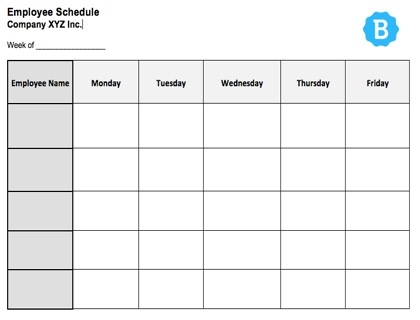 photograph about Weekly Schedule Template Printable named program blank -