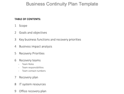 Covid 19 Business Continuity Plan