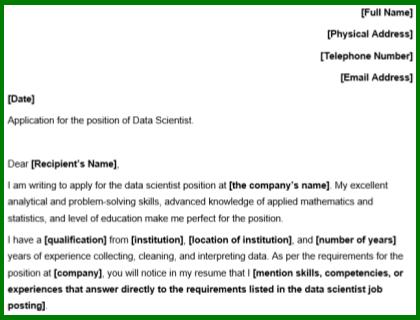 Data Scientist Template Download