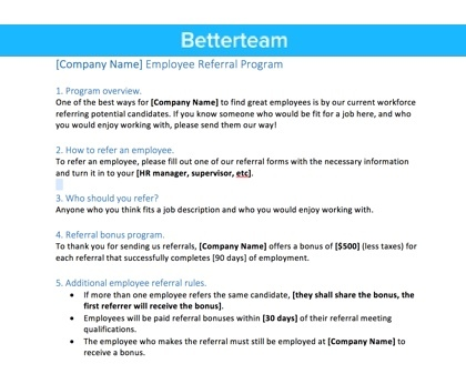 Employee Referral Program FAQs Answered + Policy Template