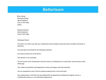 Employer's Letter To Confirm Employment from www.betterteam.com