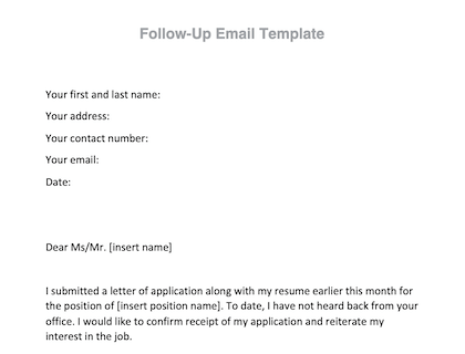 Follow Up Email With A Free Downloadable Template
