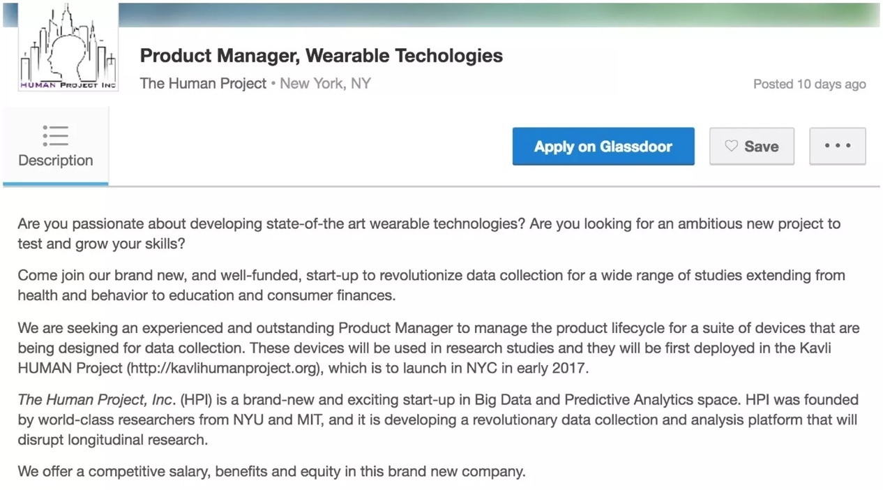 Glassdoor Job Posting Example