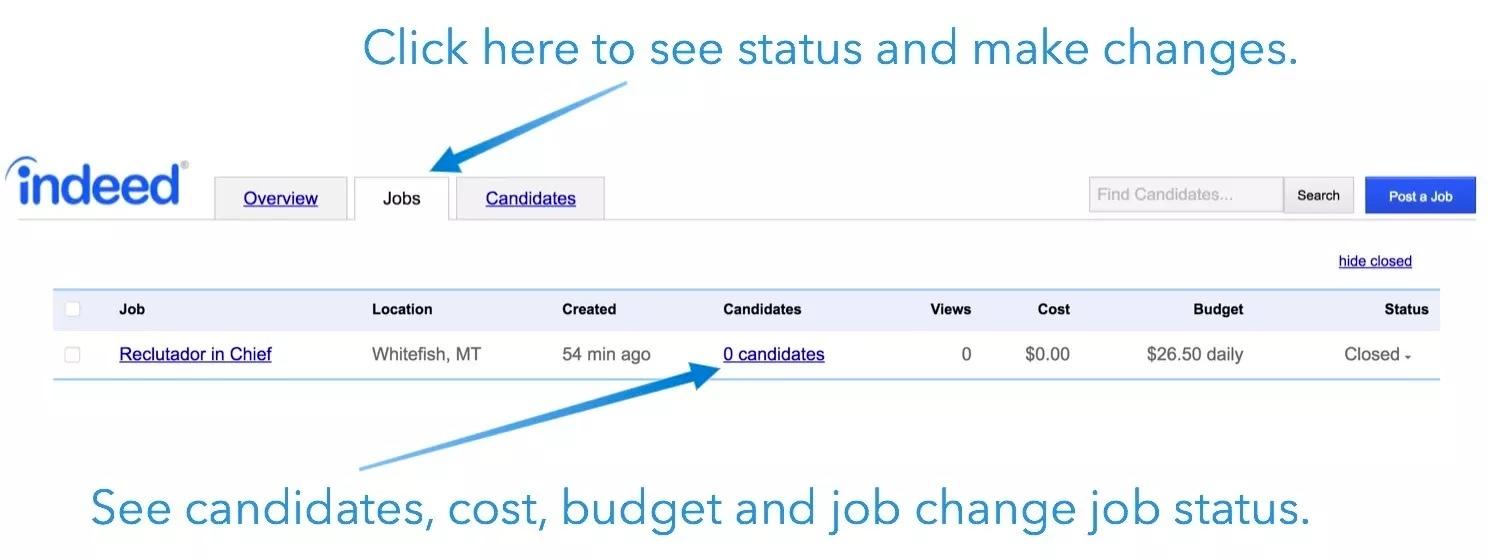 Indeed Job Dashboard