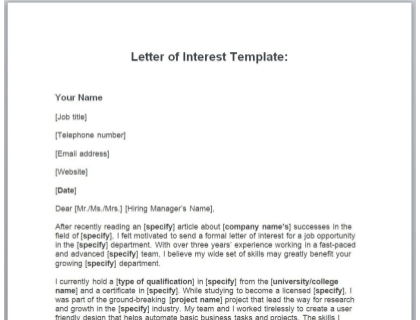 Letter Of Interest Outline from www.betterteam.com