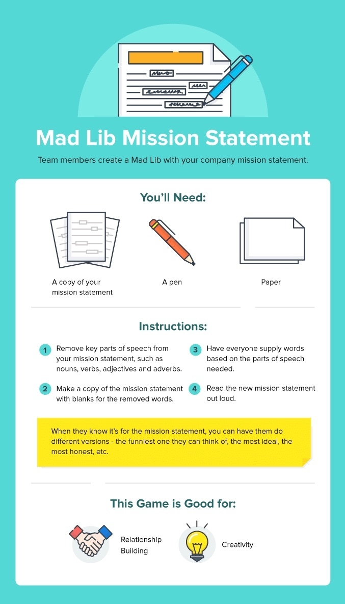 Mad Lib Mission Statement