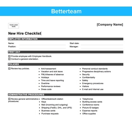 The Ultimate New Hire Checklist  How To Onboard Right