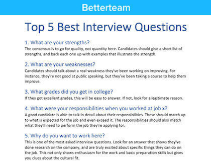 Patient Representative Interview Questions