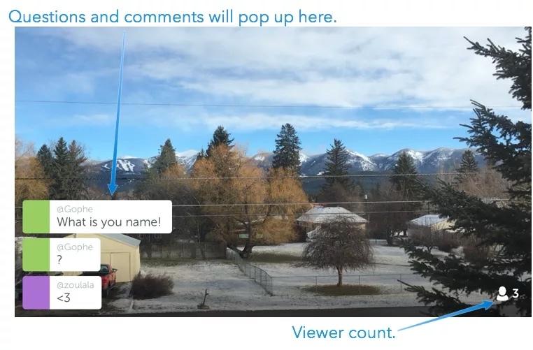 Periscope Example Screen