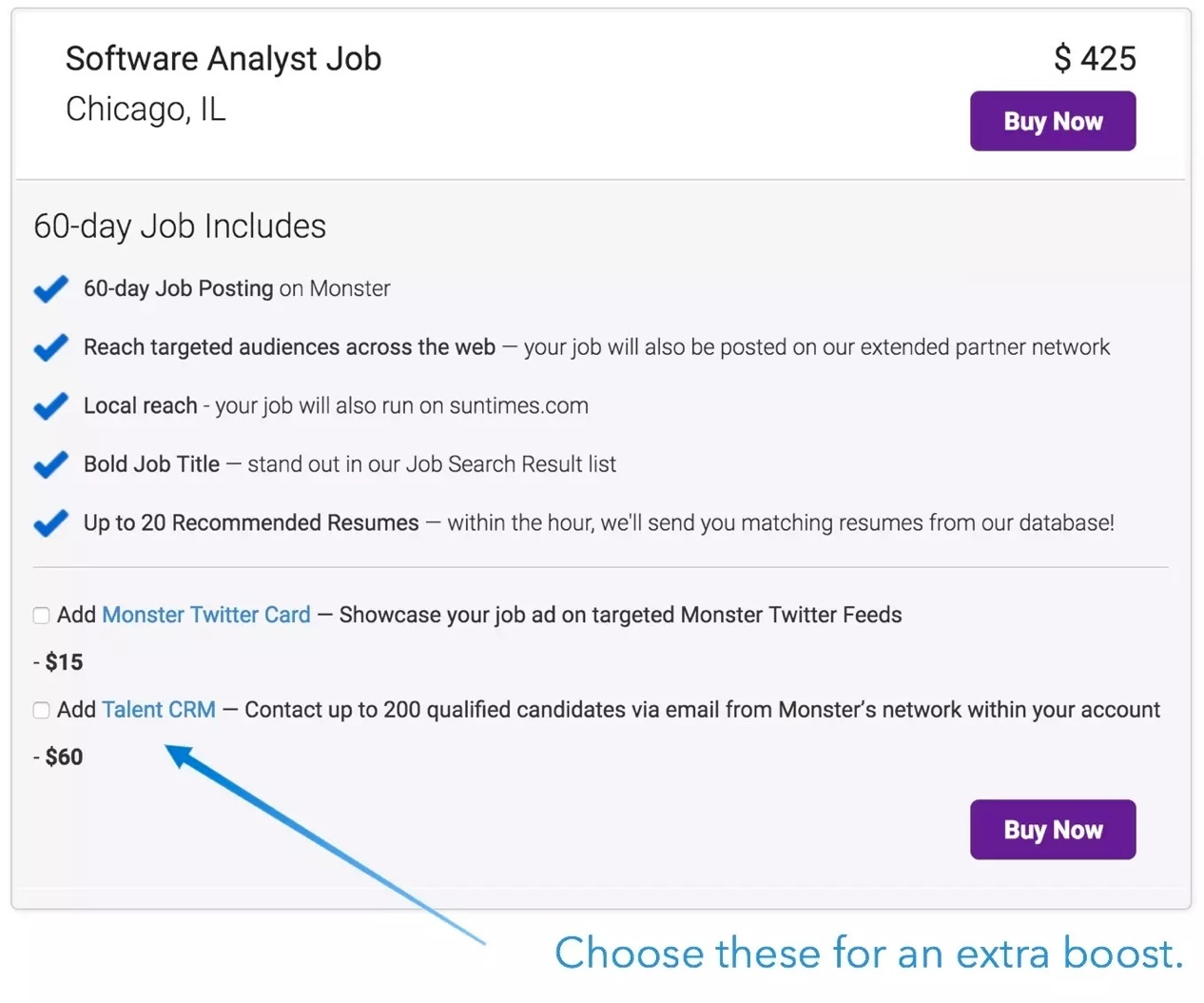 Monster job board overview for employers plus FAQs & pricing