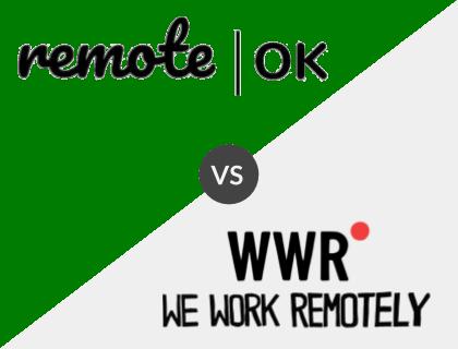 RemoteOK vs. WeWorkRemotely