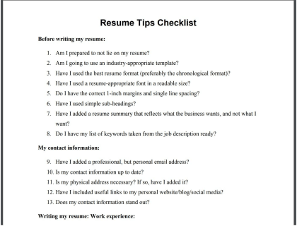 Tips For Writing A Great Resume Includes Faqs
