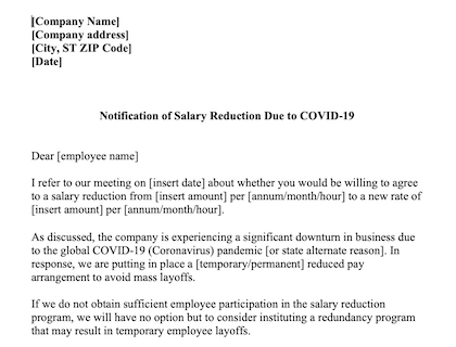 Salary Reduction Due To Covid 19 Download