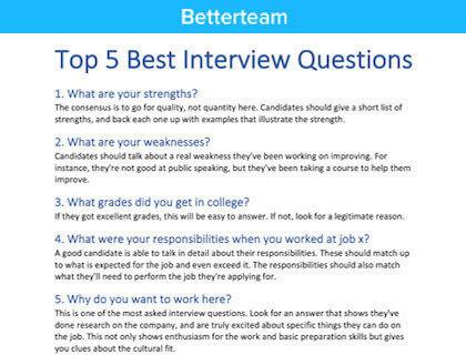 Senior Estimator Interview Questions