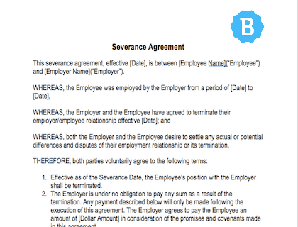 Severance Agreement Template Free Download - Free standard will template