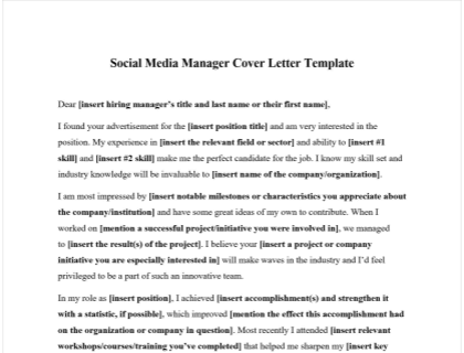 Social Media Manager Cover Letter from www.betterteam.com