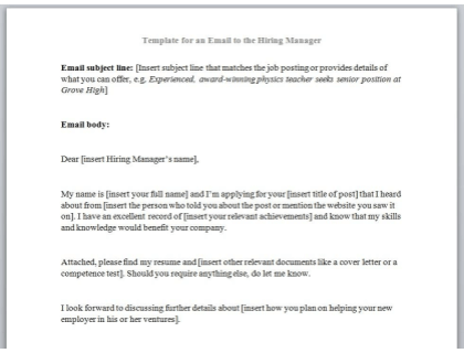 Cover Letter In Body Of Email from www.betterteam.com