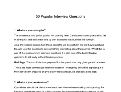 The 50 Most Common Interview Questions [with Explanations]