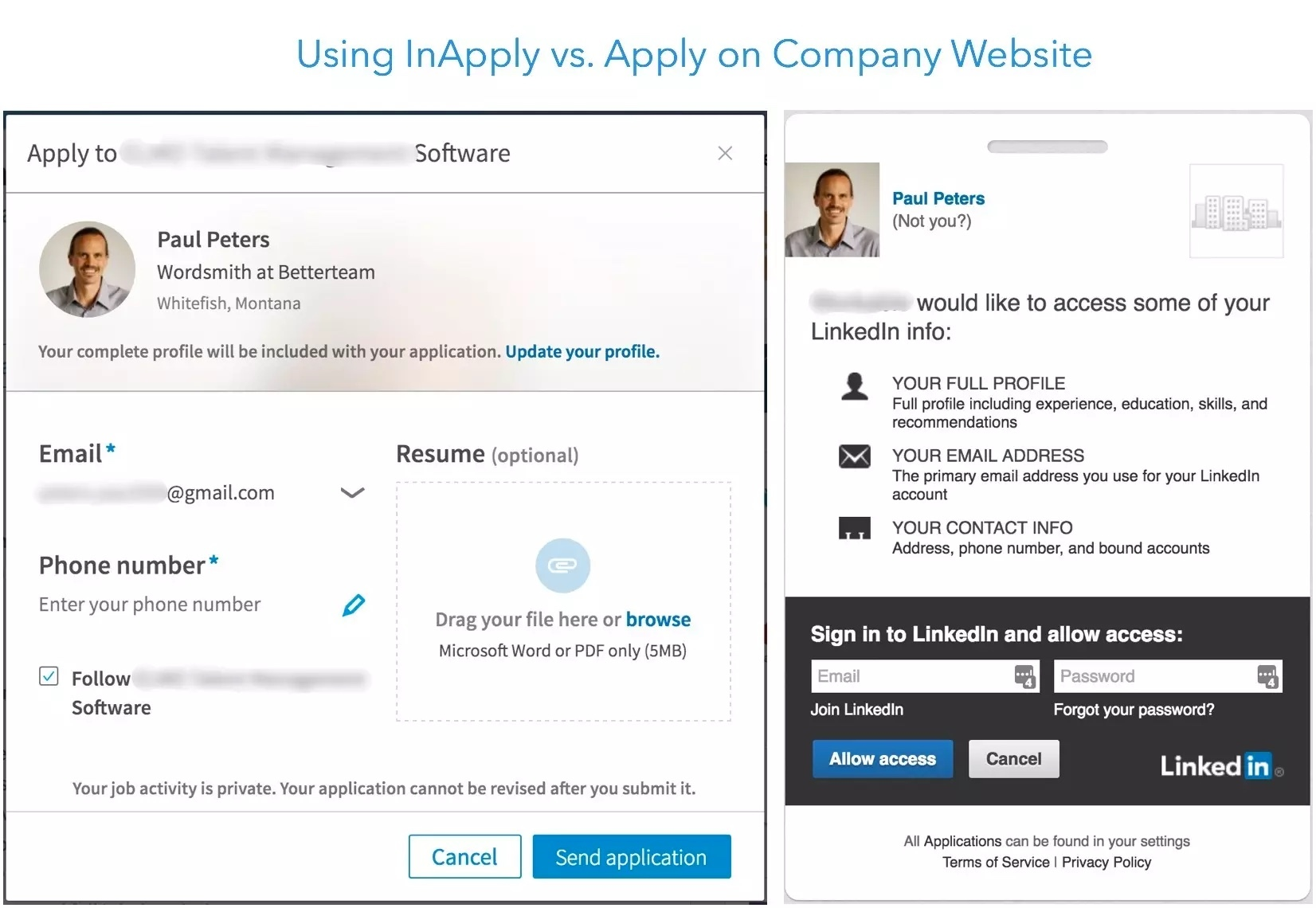 Using Linkedin Inapply