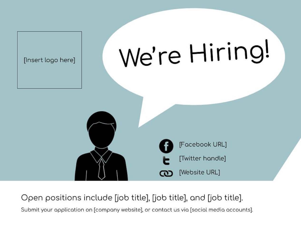 Job Flyer Template Word from www.betterteam.com