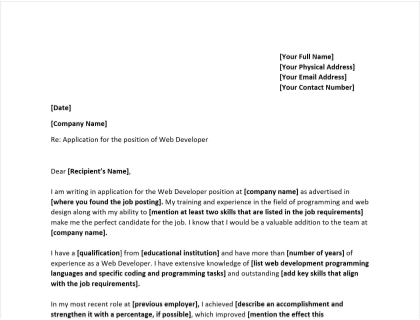 Cover Letter Web Developer from www.betterteam.com