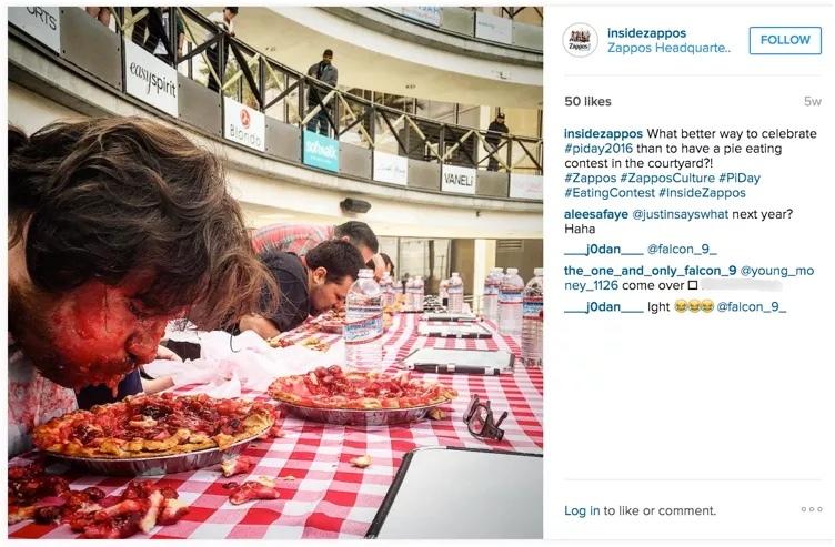 Zappos Instagram Social Recruiting