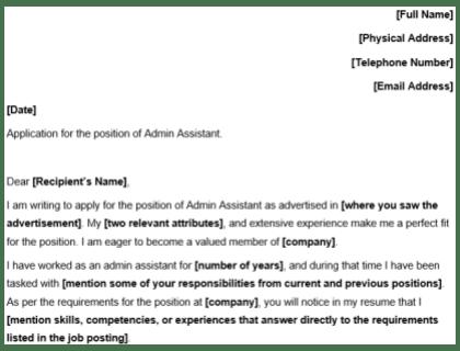 Job Application Letter Sample For Office Assistant Best Pictures Excellent