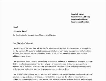 Employment Services Manager Cover Letter Primary Design Modern